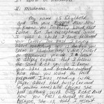 Letter to Madonna (page 1) about Guy Ritchie, her diet, and her children