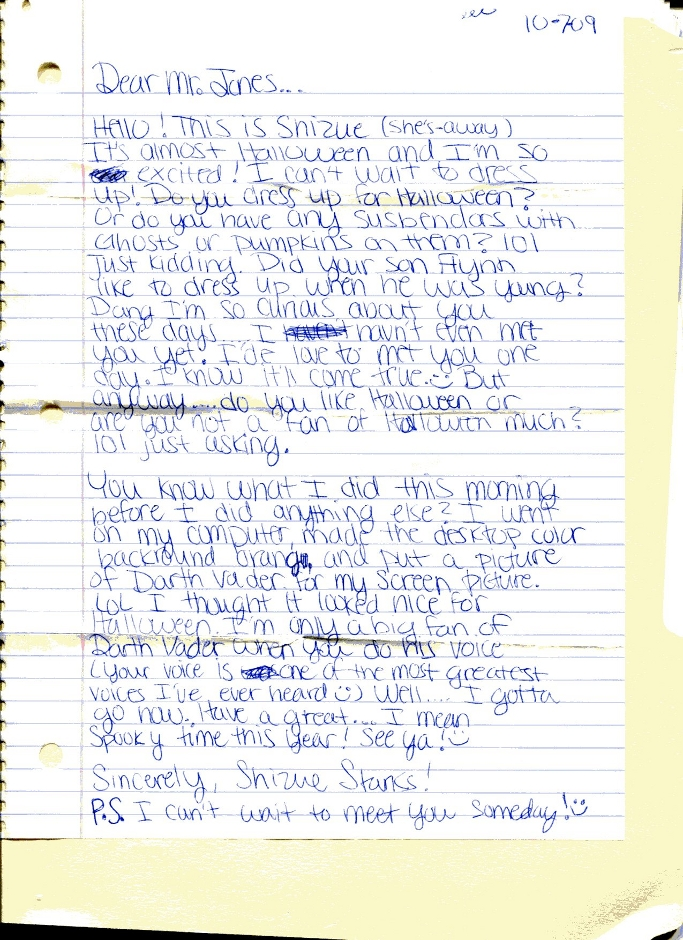 James Earl Jones Celebrity Letters
