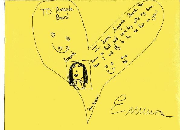 Celebrity Fan Letter Amanda Beard